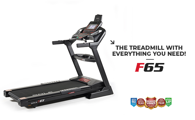 Sole Fitness F65 Treadmill Foldable Home Use Smart Treadmill Product Image Banner